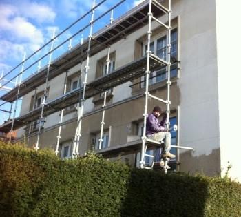 Ravalement de façade sur Bussy St Georges