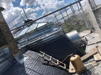 Refection d'une toiture en ardoise à Paris 75